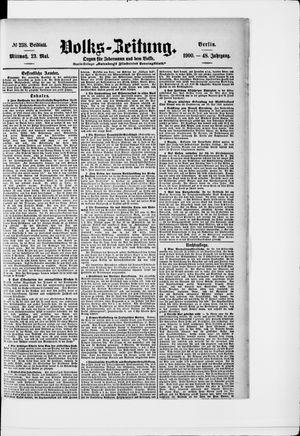 Volks-Zeitung vom 23.05.1900