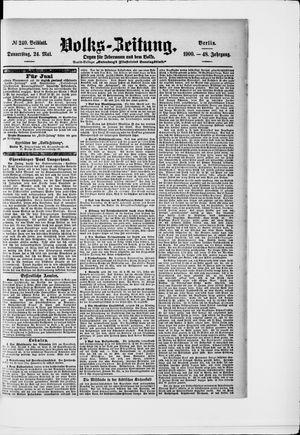 Volks-Zeitung vom 24.05.1900