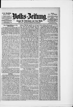 Volks-Zeitung on May 25, 1900