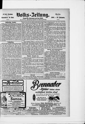 Volks-Zeitung vom 26.05.1900