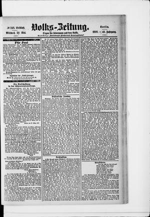 Volks-Zeitung vom 30.05.1900