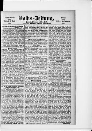 Volks-Zeitung vom 06.06.1900
