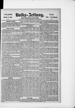 Volks-Zeitung vom 08.06.1900