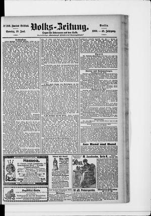 Volks-Zeitung vom 10.06.1900