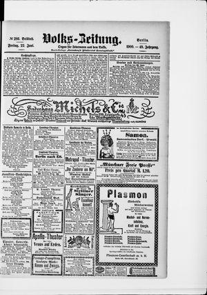 Volks-Zeitung vom 22.06.1900
