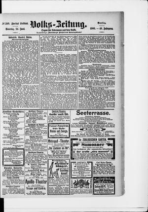 Volks-Zeitung vom 24.06.1900
