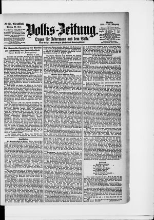 Volks-Zeitung vom 25.06.1900