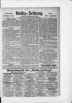 Volks-Zeitung vom 28.06.1900