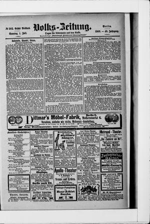 Volks-Zeitung vom 01.07.1900