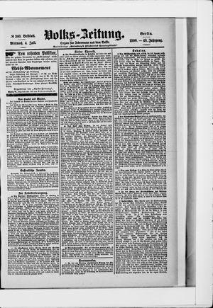 Volks-Zeitung vom 04.07.1900