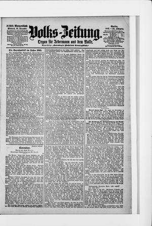 Volks-Zeitung vom 31.12.1902