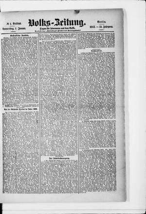 Volks-Zeitung vom 01.01.1903