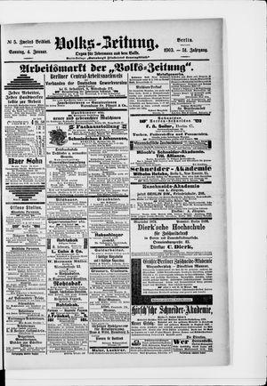 Volks-Zeitung vom 04.01.1903