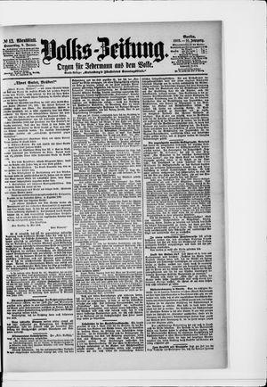 Volks-Zeitung vom 08.01.1903