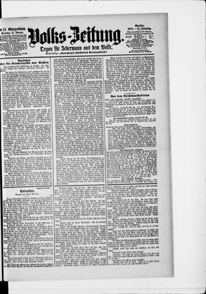 Volks-Zeitung vom 11.01.1903