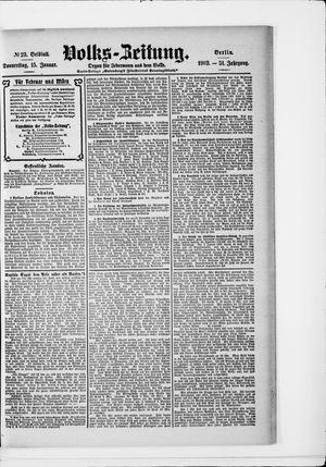 Volks-Zeitung vom 15.01.1903