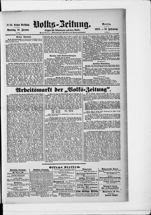 Volks-Zeitung vom 18.01.1903