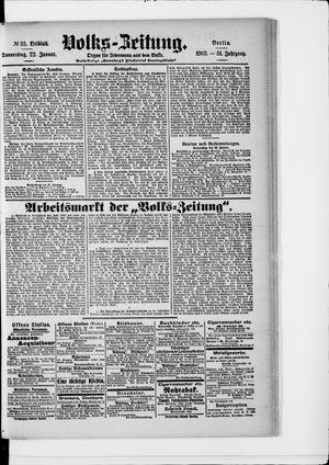 Volks-Zeitung vom 22.01.1903