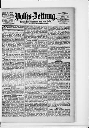 Volks-Zeitung vom 24.01.1903