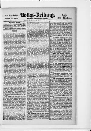 Volks-Zeitung vom 25.01.1903