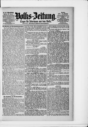 Volks-Zeitung vom 26.01.1903