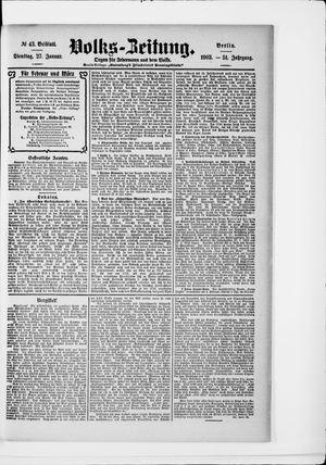 Volks-Zeitung vom 27.01.1903