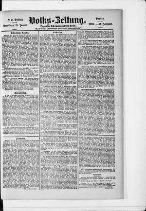 Volks-Zeitung vom 31.01.1903