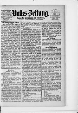 Volks-Zeitung vom 01.02.1903