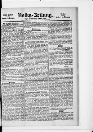 Volks-Zeitung vom 09.02.1903