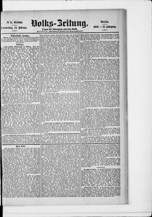 Volks-Zeitung on Feb 12, 1903