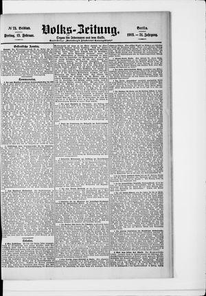 Volks-Zeitung vom 13.02.1903