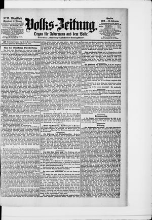 Volks-Zeitung vom 14.02.1903