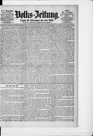 Volks-Zeitung vom 15.02.1903