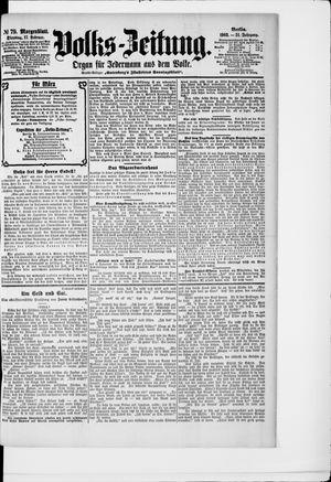 Volks-Zeitung vom 17.02.1903