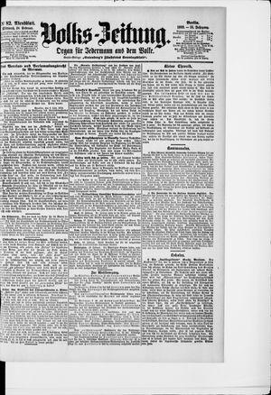 Volks-Zeitung vom 18.02.1903