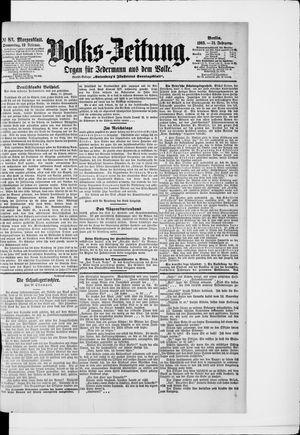 Volks-Zeitung vom 19.02.1903