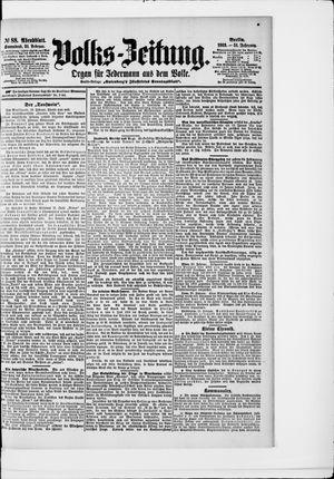 Volks-Zeitung vom 21.02.1903