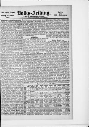Volks-Zeitung vom 22.02.1903