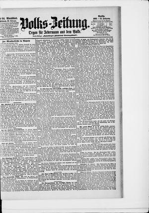 Volks-Zeitung vom 25.02.1903