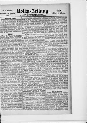 Volks-Zeitung vom 26.02.1903