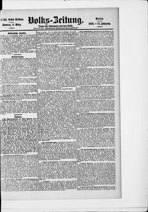 Volks-Zeitung vom 08.03.1903