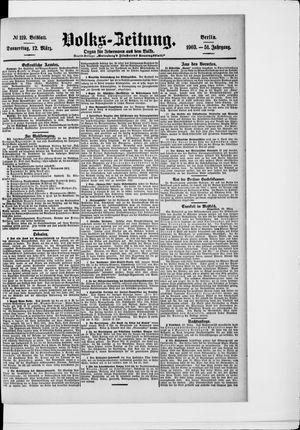 Volks-Zeitung vom 12.03.1903