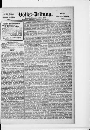Volks-Zeitung vom 18.03.1903