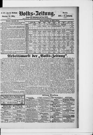 Volks-Zeitung vom 22.03.1903