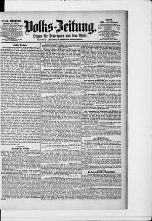 Volks-Zeitung vom 25.03.1903