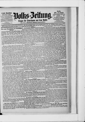 Volks-Zeitung vom 04.04.1903