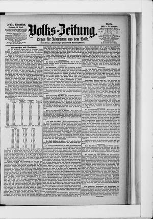 Volks-Zeitung vom 15.04.1903