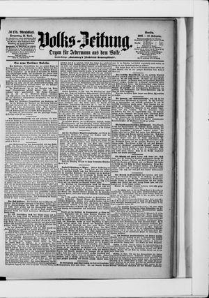 Volks-Zeitung vom 16.04.1903
