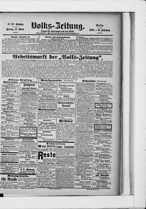 Volks-Zeitung vom 17.04.1903