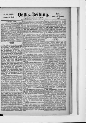 Volks-Zeitung vom 21.04.1903